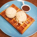 Double Scoop With Waffle ($12.80)