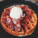 Candied Bacon Waffle