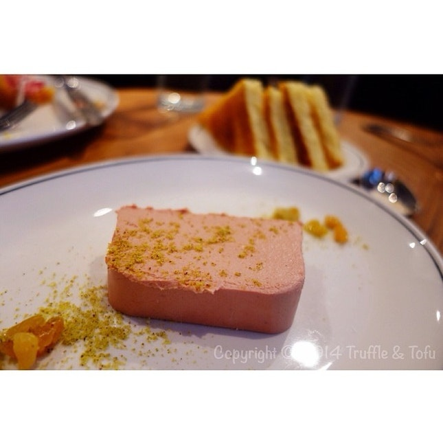 Foie Gras parfait with brioche 😍 so in love with this dish @ Cumulus Inc, Flinders lane, Melbourne