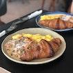 Croissant with mushroom & scrambled egg