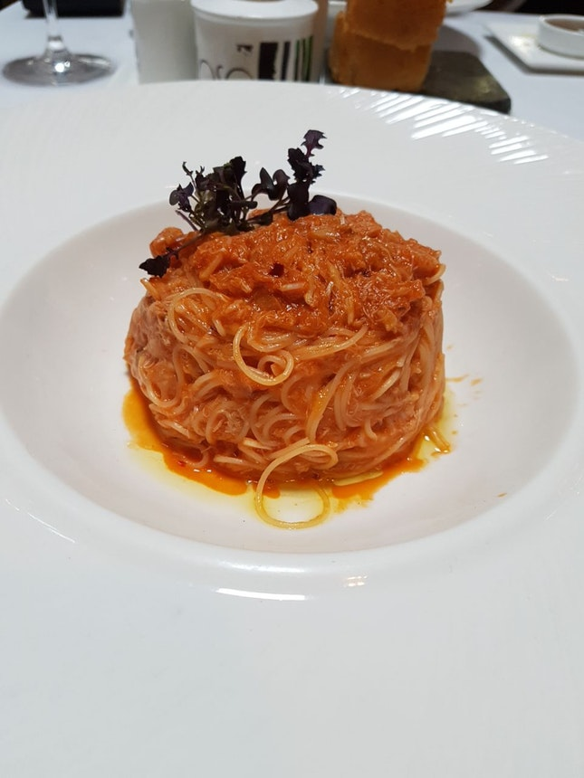 Angel Hair Crab Meat Pasta ($26)