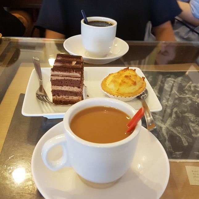 Coffee/tea ($1.80) & Coconut Tart ($2)