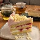 Yuzu Cake, C3 Cheesecake, Peach Oolong Tea, Chocolate Hojicha Tea ($9/cake, $5/tea)