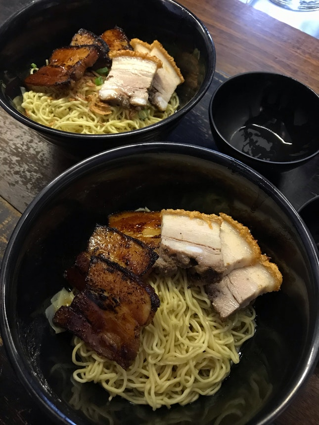 Pork Belly Twosome Noodle ($10)