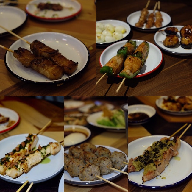 Yakitori Menu at Birders.