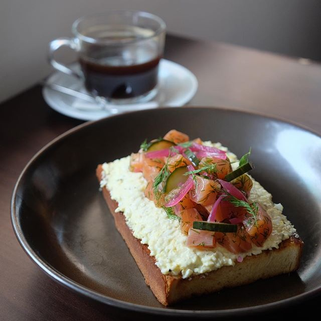 Gravlax Egg Toast ($16) .