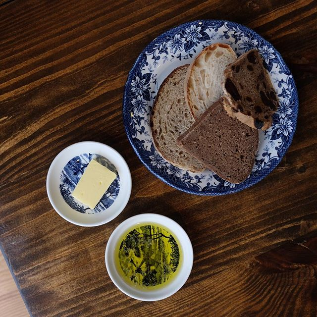 Bread Board with Olive Oil and Norwegian butter ($10) .