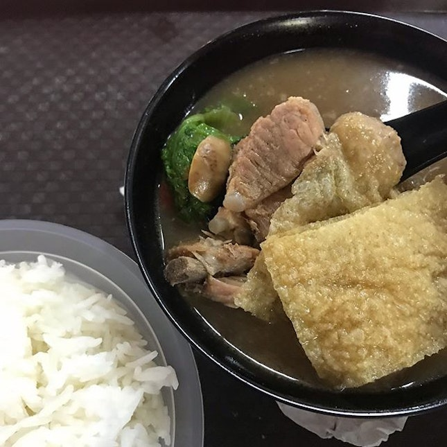 I was lazy trying to take a better shot of this delicious bak kut teh.