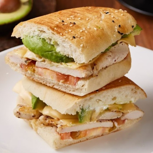 Chicken Avocado Panini