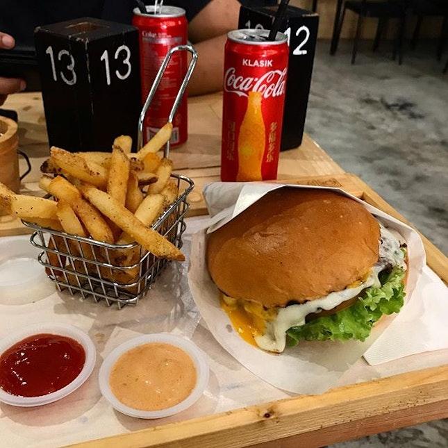 Cheese Loaders Beef Burger.