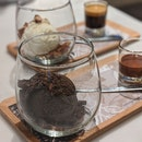 ice cream bar: dark chocolate x vanilla affogato • $9.50 each