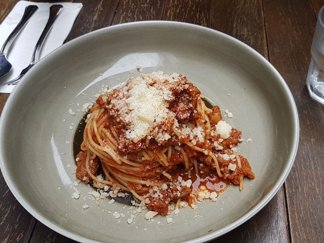 Spaghetti Bolognese, $18