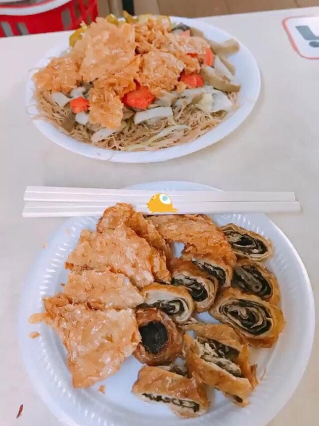 Fried Seaweed Beancurd Roll