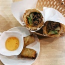 Beef Baguette With Spring Rolls ($8.90)