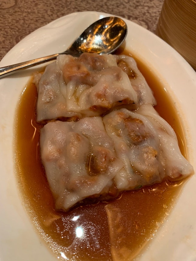 Chee Cheong Fun With Char Siew