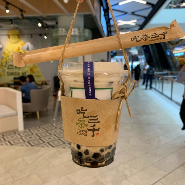 dong ding oolong tea + cream + pearls 🥤