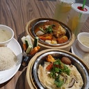 Assam Chicken And Steam Fish And Chips