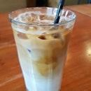 Iced Roasted Almond Latte ($7)