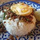 Thai Basil Minced Beef Rice ($6.80)
