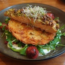 Pistachio Crusted Salmon with Rosti ($22)