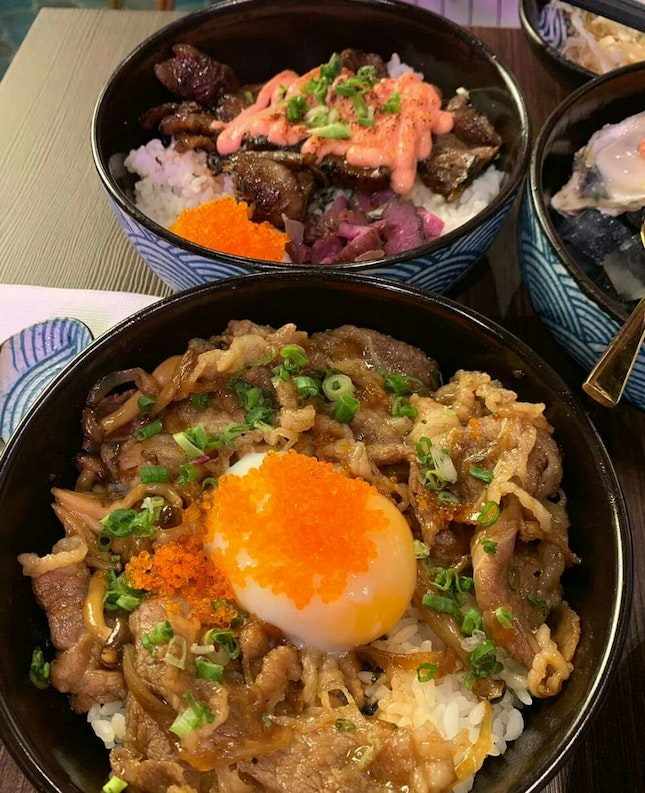 Mentaiko Wagyu And Beef Sukiyaki Bowl