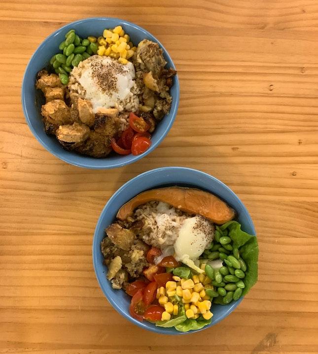 Teriyaki Chicken & Salmon Bowl