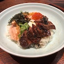Angus Beef And Aburi Salmon Belly Don