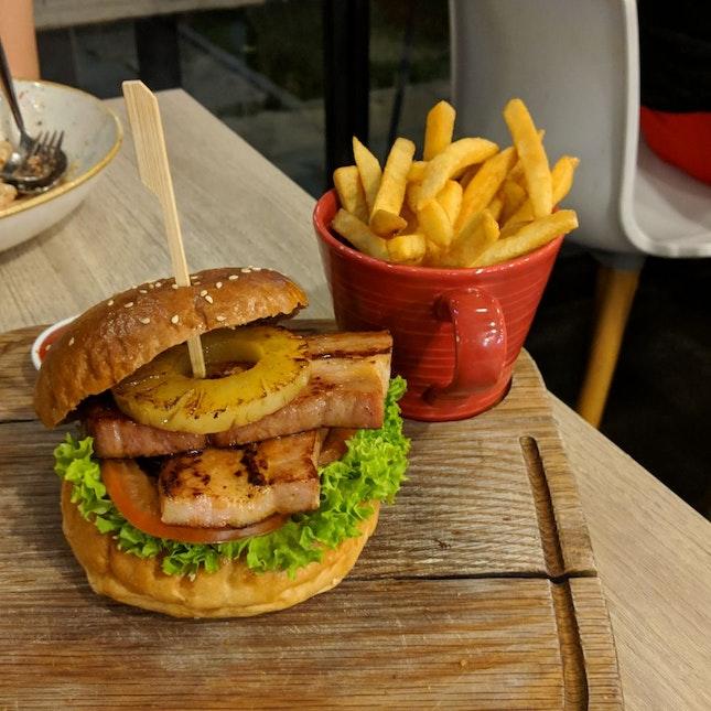 Honey Pork Bacon Burger