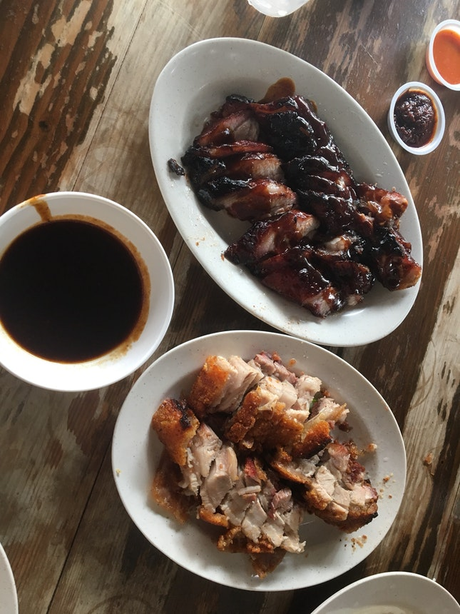 Char Siew And Crispy Pork Belly