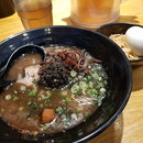 Ramen with Garlic and Squid Ink