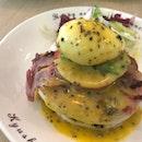 Egg Benedict Pancakes