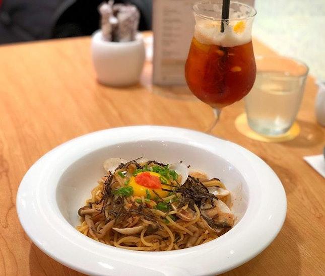 Clam & Hotate Mentaiko Spaghetti [$21.50]