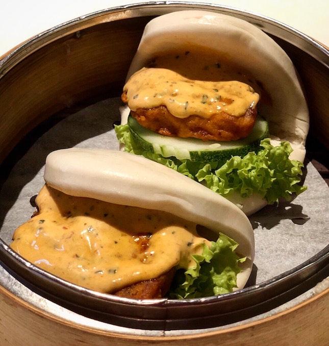 [NEW] Laksa Chicken Mantou ($4.50)