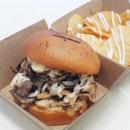 Roasted Chicken Mushroom Burger ($10.90)