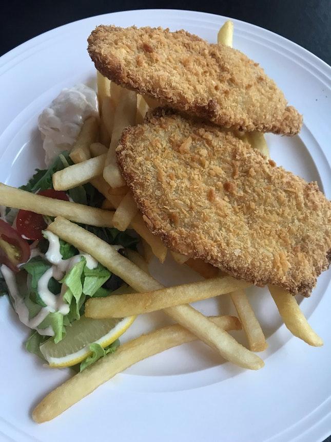 Fish & Chips + Aglio Olio