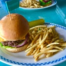 Burger And Truffle Fries