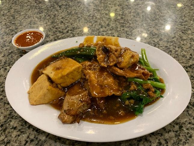 Fried Yong Tau Fu With Gravy