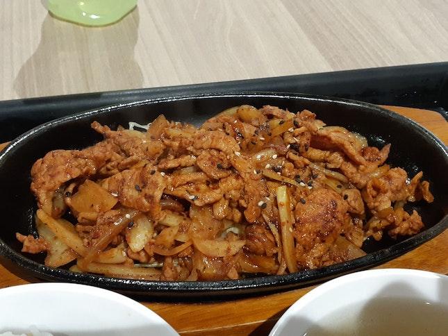 Korean Spicy Sliced Pork Set