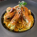 Linguine Curry Prawns