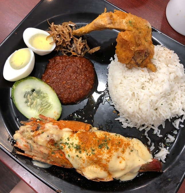 Lobster-zhnged Nasi Lemak!!!