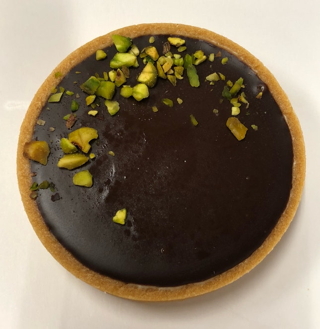 Pistachio Chocolate Tart ($4)