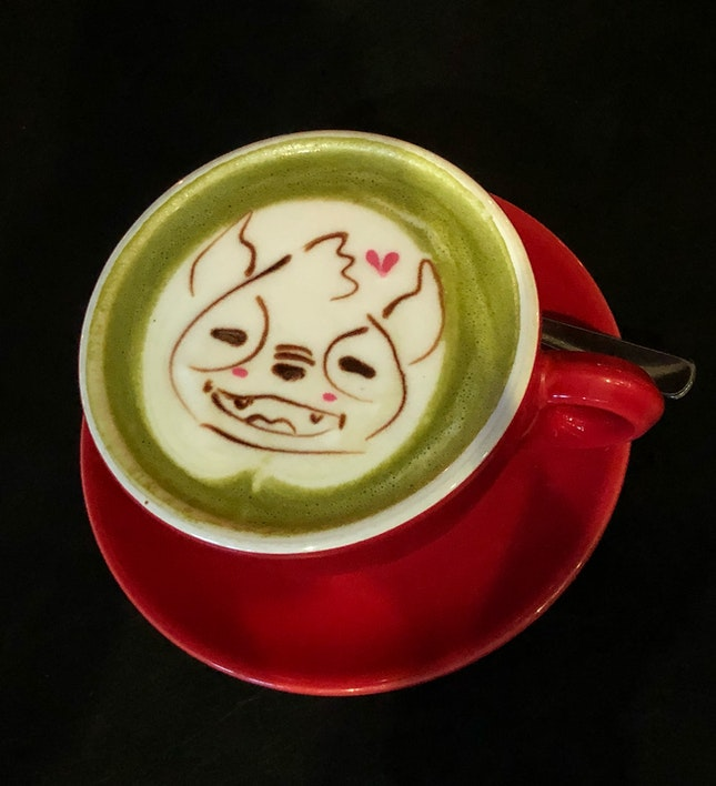 Honey Matcha Latte (Hot, Large, $7)