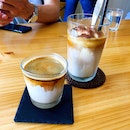 Dirty ($5) & Affogato (Taller, $7)