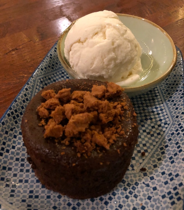 Chocolate Melt With Vanilla Ice Cream ($10)