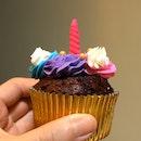 Red Velvet Unicorn Cupcake
