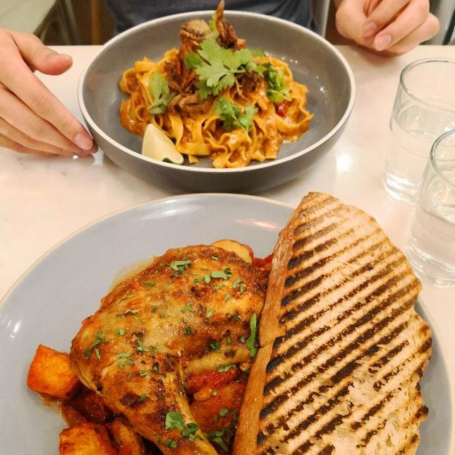 Baked Chicken Stew, Chilli Crab Pasta, cozy vibes!