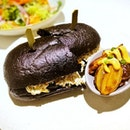 Crab Meat Remoulade Salad in Squid Ink Bread (S$19++) || @PanPacificSingapore .