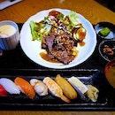Yakiniku Zen with Sushi (S$26++) || @RakuzenSG, @MilleniaWalk .