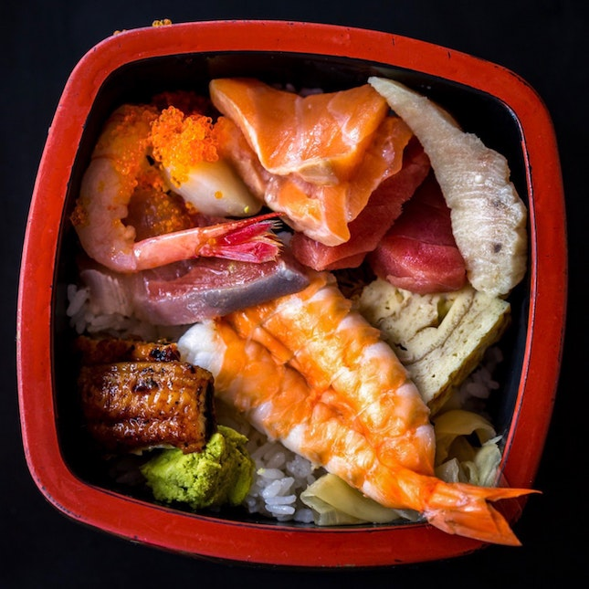 Chirashi Lunch Set [~$20]