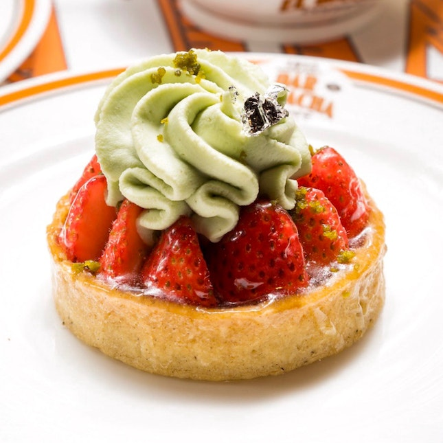 Strawberry Pistachio Tart [~$9]